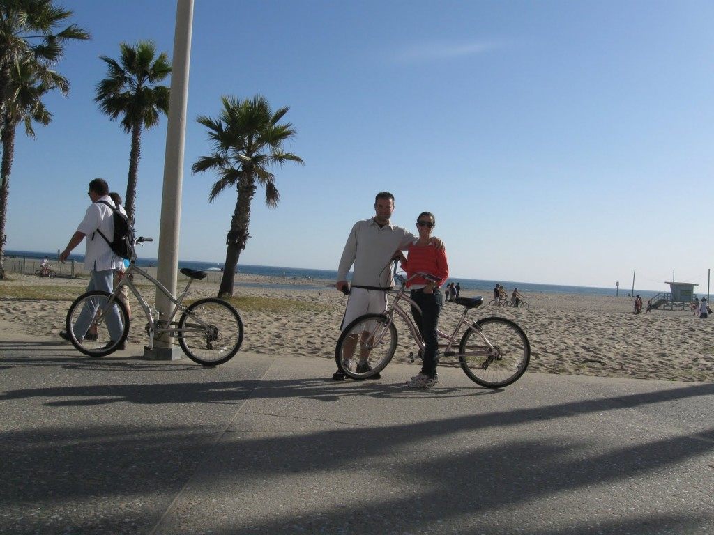 Pier de Santa Mônica, alugando as bikes!