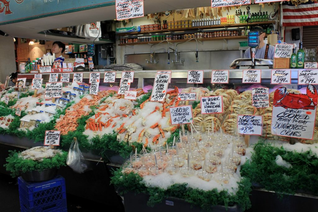 Pike Place Market em Seattle - Pike Place Fish Market
