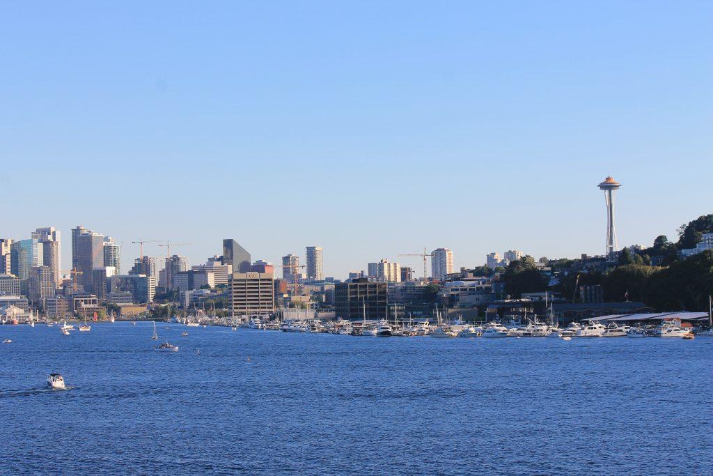 Vista de Seattle do Gas Works Park
