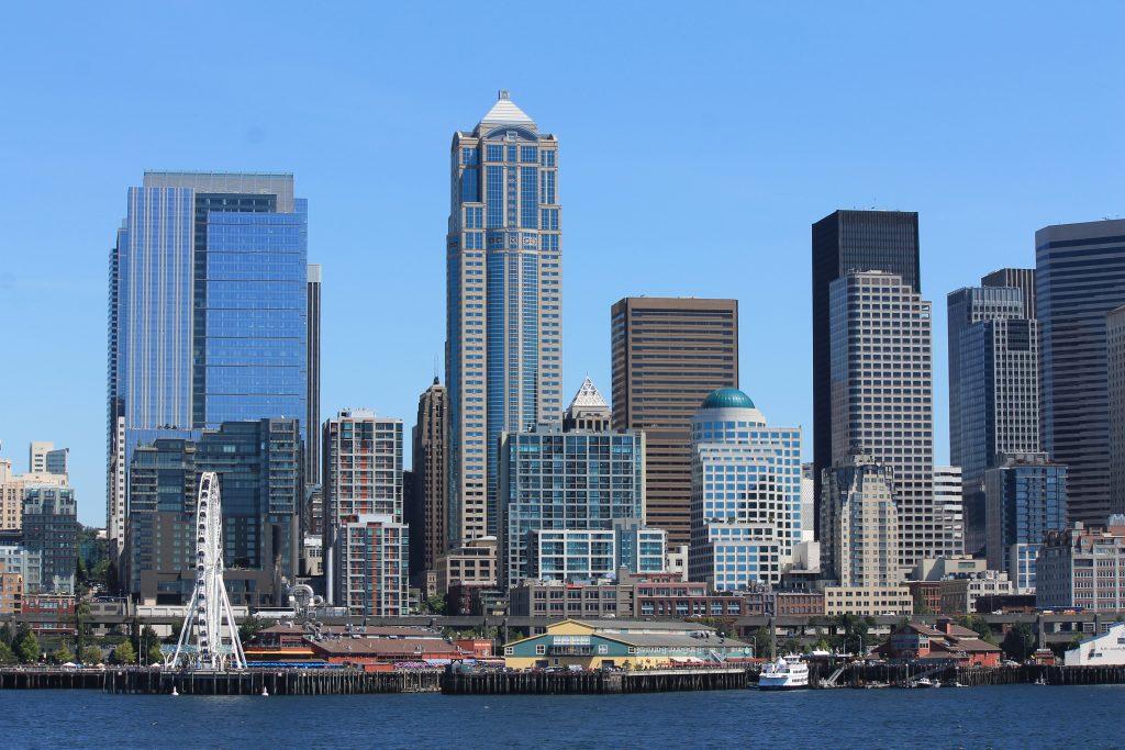Vista de Seattle - balsa para Bainbridge Island
